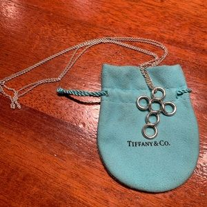 Authentic Tiffany & Co circle cross necklace